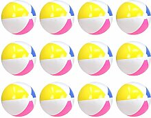 com-four® 12x Strandball, Beachball in