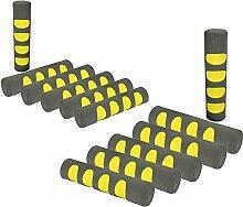COM-FOUR® 12x Türgriff Stopper, Fenster Schaumstoff Schutz Puffer in grau/gelb (12 Stück - grau/gelb)