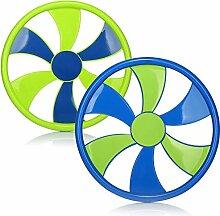 com-four® 2X Frisbee für Kinder und Erwachsene -