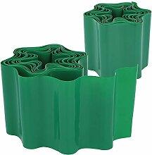 com-four® 2X Rasenkante aus Kunststoff -