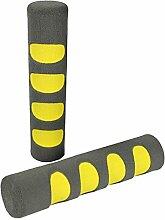 COM-FOUR® 2x Türgriff Stopper, Fenster Schaumstoff Schutz Puffer in grau/gelb (02 Stück - grau/gelb)
