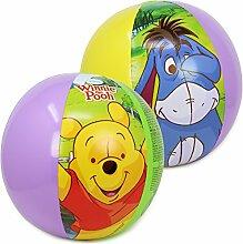 com-four® 2X Wasserbälle, Beachball mit Motiven