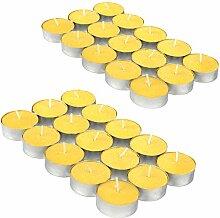 com-four® 30x Teelichter - Anti-Mücken-Kerze mit