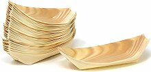 COM-FOUR® 32x Snackschalen aus Holz,