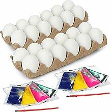 com-four® 34-teiliges Eier-Malset für Kinder -