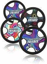 com-four® 4X Freestyle Frisbee für Kinder und
