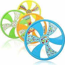 com-four® 4X Frisbee für Kinder und Erwachsene -
