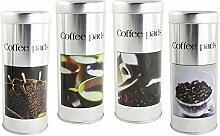 com-four® 4X Kaffeepad-Dose, Dekodose,