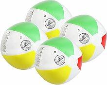 COM-FOUR® 4x Wasserball, Beachball in fruchtig-frischen Farben, Ø 26 cm