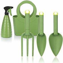 com-four® 5-teiliges Premium-Gartenwerkzeugset,