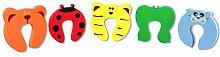 COM-FOUR® 5x Baby Kinder Schaumstoff Klemmschutz Türstopper Fenster Tiermotive (05 Stück)