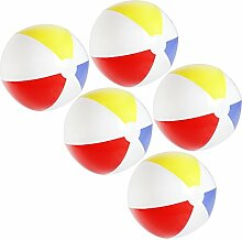 com-four® 5X Wasserball, Beachball in