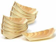 COM-FOUR® 64x Snackschalen aus Holz,