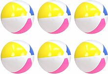 com-four® 6X Strandball, Beachball in