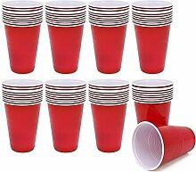 com-four® 80x Trinkbecher, Beer Pong Partybecher