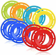 com-four® 8X Frisbee für Kinder und Erwachsene -