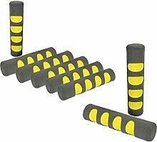 COM-FOUR® 8x Türgriff Stopper, Fenster Schaumstoff Schutz Puffer in grau/gelb (08 Stück - grau/gelb)