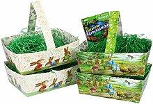 com-four® 9-teiliges Oster-Set aus Osterkörbchen