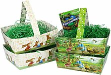 com-four® 9-teiliges Oster-Set aus Papp-Körbchen