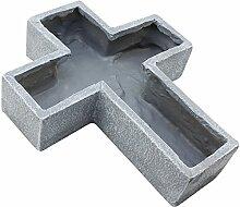 COM-FOUR Deko Kreuz zum Bepflanzen, Grabschmuck, ca. 25,7 x 29,7 x 6,5 cm
