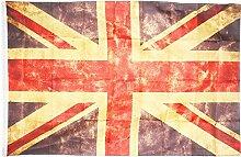 COM-FOUR® Flagge, Fahne Union Jack im Vintage-Design als Deko für Fasching, Halloween und Mottopartys, 150 x 90 cm (01 Stück - 150x90cm)