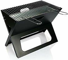 com-four® Grill - Klappbarer Holzkohlegrill -