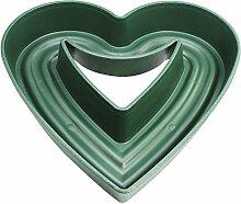 COM-FOUR® Pflanzherz Amora, offen, individuelle Dekoration, 44,5 x 45 x 7 cm, grün