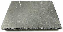 com-four® Schieferplatte, 25 x 25 cm,