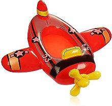com-four® Schwimmfigur im Flugzeug Design -