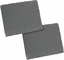 com-four® Servierplatte, Serviertablett aus