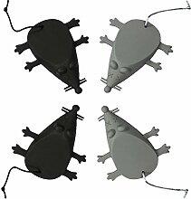 com-four® Türstopper Maus 12,0 x 9,0 cm aus