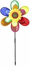 COM-FOUR® Windspiel, Windrad Blume, Windmühle, toller Hingucker für Ihren Garten (1 Stück)