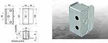 combiarialdo 352Schlägel portaincontro Platte 100x 30mm verstellbar 45–55mm Befestigen Gartentor Elektroschloss