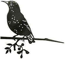 Combini rostige Gartendeko für Den Baum, Baumstecker Glücksvogel Star, Edelrost, 4mm Edelstahl, 25,5 x 21 cm groß