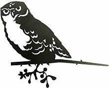 Combini rostige Gartendeko für Den Baum, Baumstecker Glücksvogel Eule, Edelrost, 4mm Edelstahl, 28,3 x 21 cm groß