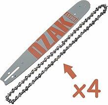 COMBO Guide 40cm + 4Ketten Pro .3251.5mm =