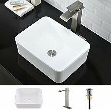 Combo-WMXQX Rechteckiges Badezimmer-Waschbecken