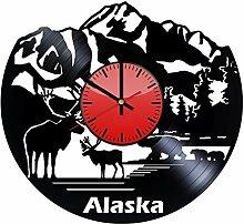 Come n' Get Alaska Mountain Decor Wanduhr aus