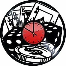 Come n' Get Casino Royale Wanduhr aus Vinyl,