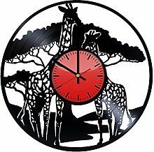 Come n' Get Wanduhr aus Vinyl, Giraffe,