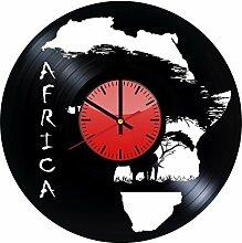 Come n' Get Wanduhr aus Vinyl, Motiv: Afrika,