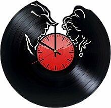 Come n' Get Wanduhr aus Vinyl, Motiv: Die