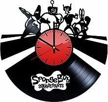 Come n' Get Wanduhr aus Vinyl, Motiv Spongebob