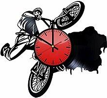 Come n' Get Wanduhr, Motiv: Fahrrad-Sport,