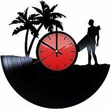 Come n' Get Wanduhr, Vinyl-Platten-Motiv,