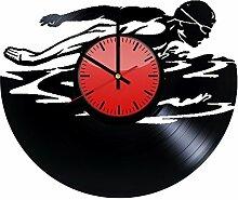 Come n' Get Wanduhr, Vinyl-Platten-Motiv –