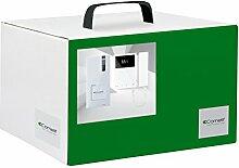 Comelit 8461M Videogegensprechanlage für Einfamilienhaus, Außensprechstelle Quadra, Mini-Monitor, Simplebus-System