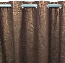 Comete Baumwolle Leinen Lurex und Vorhang 140x 250monbeaurideau–Schokolade–Design: Uni