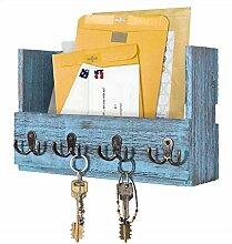 Comfify Post-Wandhalterung aus Holz - Rustikale