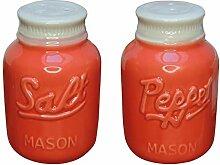 Comfify Vintage Mason Jar Salz & Pfeffer Streuer